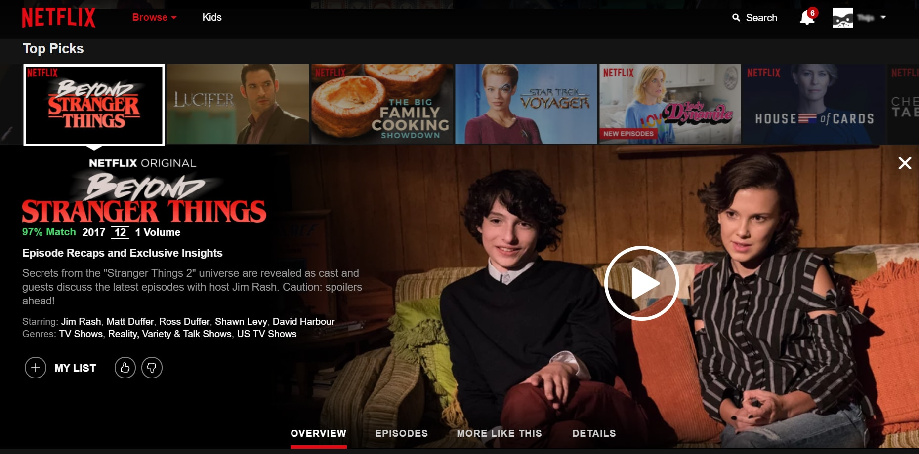 Recommendation algorithm on Netflix