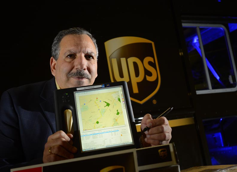 UPS Orion optimizing delivery routes in realtime
