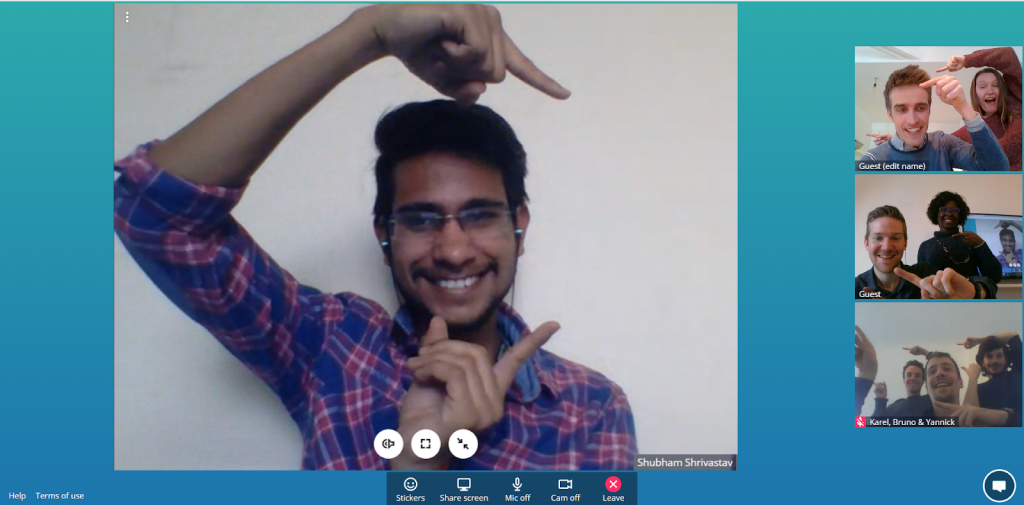 Meeting up with Shubham!
