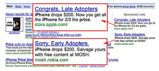Example of Google Adwords Ad