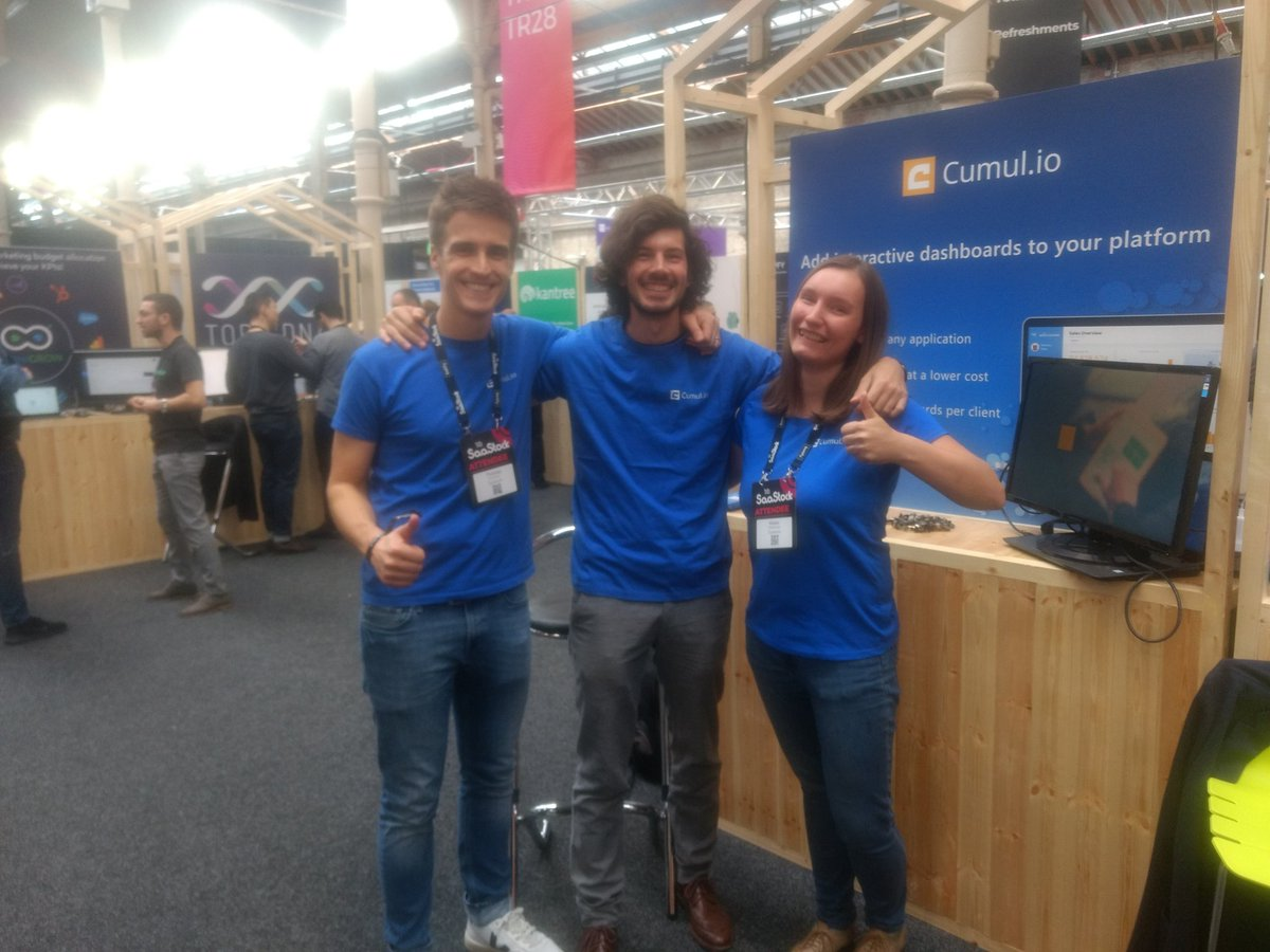 Cumul.io team at SaaStock