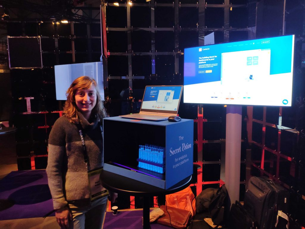 Cumul.io booth at Slush 2019.