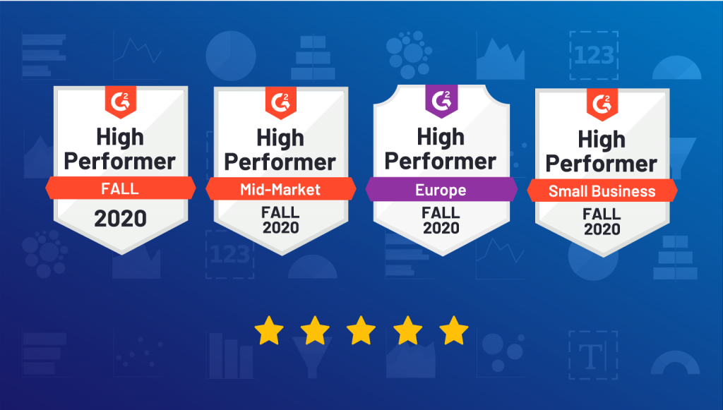 Cumul.io awarded High Performer in G2 Fall Reports