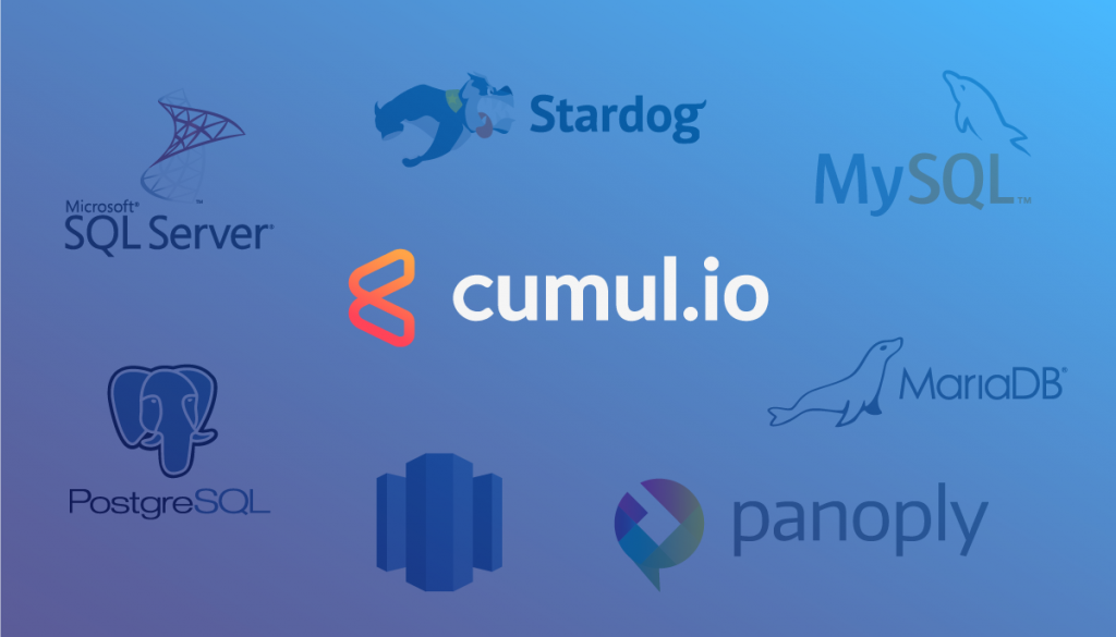 Databases currently supporting SQL datasets in Cumul.io